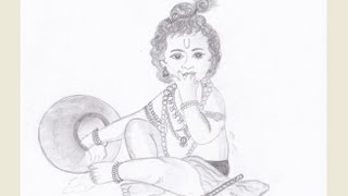 Drawing young Krishna