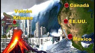Tsunami acabaría con costas de México y USA provocado por el Volcán Kilauea