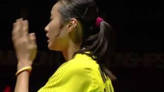 R32 (Day 2) - WS - J.Gu vs. Wang Y. - Yonex BWF World Champs '11