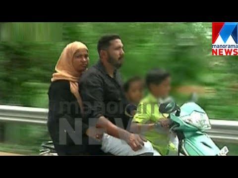 Little boy rides bike on Edappaly-Aluva bypass   Scary video   Manorama News