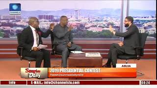 Channels TV Forced To End Their Live TV Programme After Keyamo And Sowunmi, Started 'FIGHTING