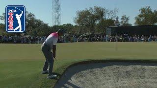 Tiger Woods' improbable bunker shot leads to par save at Arnold Palmer