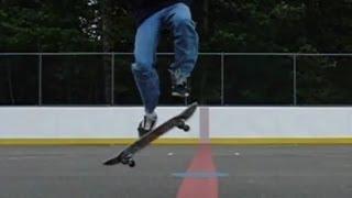 Ollie Late Back Foot Flip - Super Slow Motion