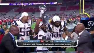Patriots crash NFL Network set with the Lombardi Trophy