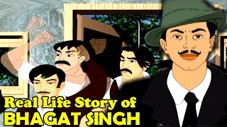 Real Life Of Bhagat Singh | Hindi Animated Story | Animated Video | By Alf Kids Station