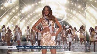 Ariadna Gutierrez Miss Universe 2015 Top 15 Announcement HD