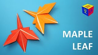 How to make origami maple leaf – video tutorial. Fall autumn craft ideas for kids
