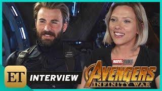 'Avengers: Infinity War': Scarlett Johansson and Chris Evans (FULL INTERVIEW)