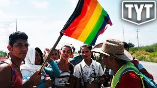Small Group Of LGBTQ Migrants Reach Border