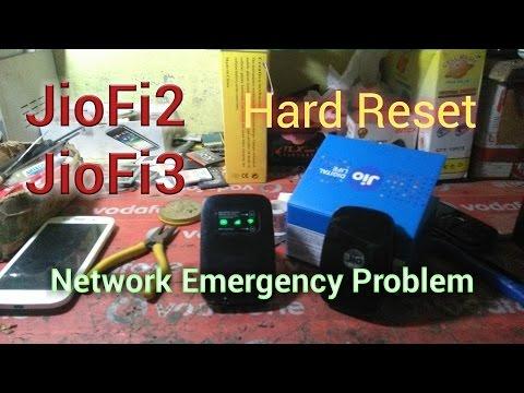 Hard Reset JioFi 3 / JioFi 2 | No Network | Emergency Problem | Password Forget