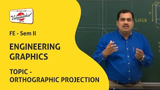 Engineering Drawing Orthographic Projection lecture | Vidyalankar Classes