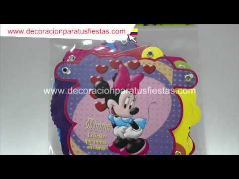 Guirnalda de cumpleaños con tema de Minnie mouse