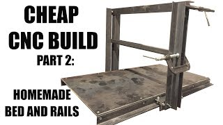 CNC build part 2: Homemade Base and Rails with cheap tools