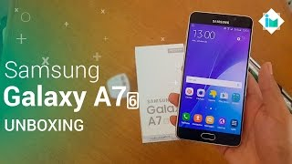 Samsung Galaxy A7 2016 - Unboxing en español