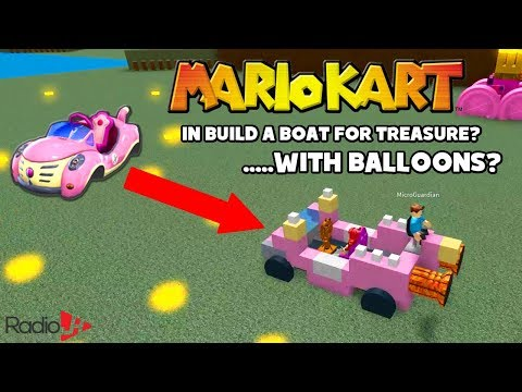 Roblox Build A Boat For Treasure   MarioKart FAIL   Audrey, Chad & Ryan