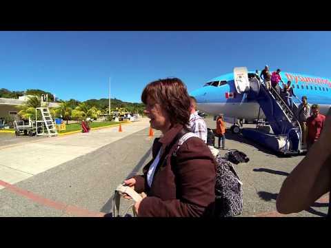 Landing and entering Roatan International Airport Honduras GoProHero3