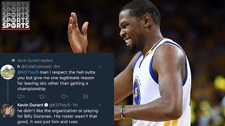 Kevin Durant Uses a Ghost Twitter and Instagram to Fight with Haters