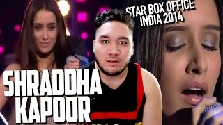 Shraddha Kapoor First Live Singing Performance Star Box Office India 2014 REACTION!!!