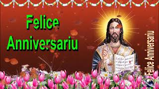 0 130 Corsican Happy Birthday Greeting Wishes includes Jesus  Christ  with Bible by  Bandla
