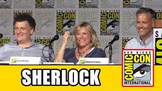 Sherlock Comic Con 2015 Panel - Rupert Graves, Steven Moffat, Sue Vertue