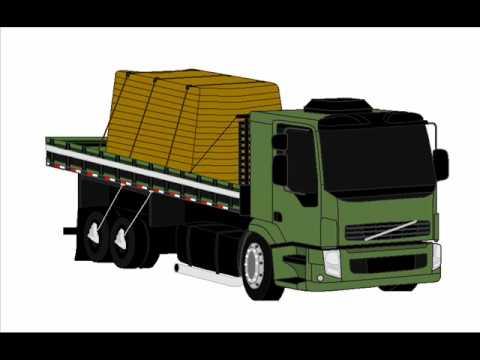 Desenho de caminhão Volvo VM em 3D