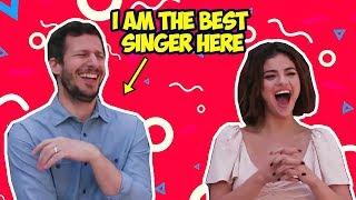 Andy Samberg Makes Selena Gomez Laugh So Hard (Hotel Transylvania 3)