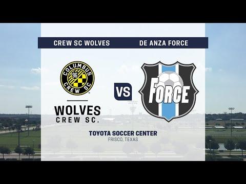 Development Academy Showcase: U-13/14: Crew SC Academy Wolves vs. De Anza Force