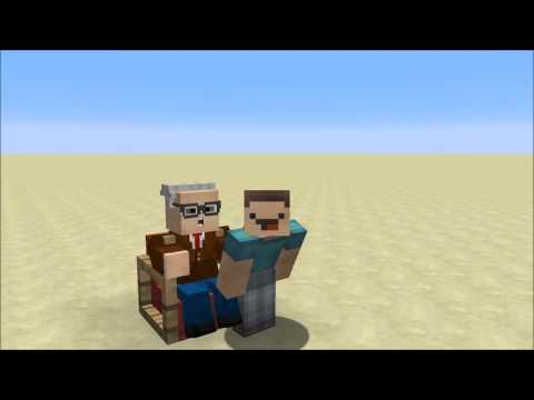 Giving Grandpa a Lap Dance in Minecraft!