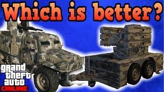 Half-track vs Anti-aircraft trailer - GTA Online