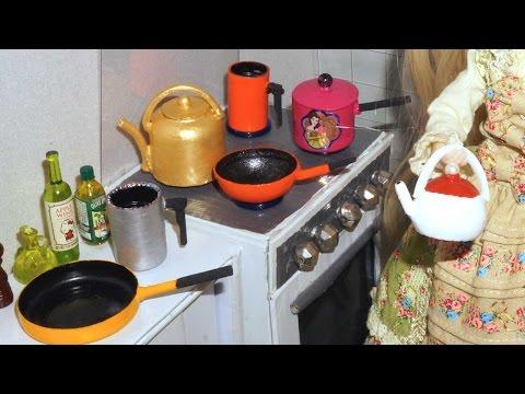 Como fazer Panela (chaleira, frigideira e papeiro) para boneca Monster High, Barbie, etc