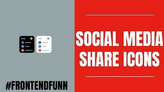 #frontendfunn - Social Media Share Icons Animation Tutorial
