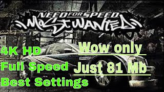 NFS Most Wanted 81 mb highly compressed || HD Gameplay || Settings