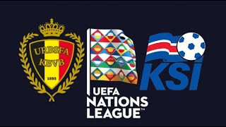 FIFA 19 BELGIUM VS ICELAND UEFA NATIONS LEAGUE