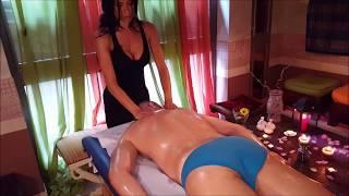💆 Italian Girl soft Back Oil Massage - ASMR video