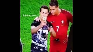 Ronaldo waives off security to allow selfie with pitch invader
