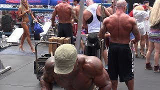 Backstage at a Muscle Beach Bodybuilding Contest - Memorial Day 2017