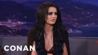 "Paige: ""I've Had A Bruised Boob Or Two""  - CONAN on TBS"