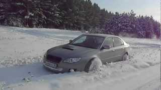 Subaru Legacy B4 по снегу