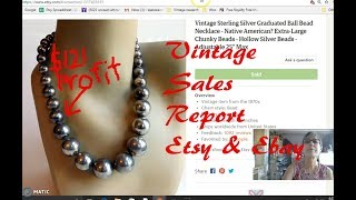 Diggin' with Dirty Girl S7E1: Vintage Sales Report Etsy & Ebay August 2017
