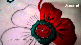 طرز الرباطي الدرس الاول كيفية اخد الرشمة وتطبيقها جزء اول مع ام عمران Arab Embroidery