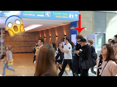 K Pop Celebrity at our Airport Evan Edinger Travel