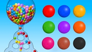 Learn Colors with Giant Gumball Machine - Colours Songs Collection for Children