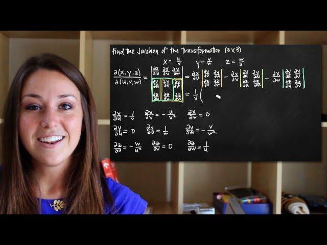 Jacobian of the transformation (3x3) (KristaKingMath)
