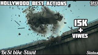 💯Hollywood Action scene WhatsApp status    Best 🚗Bike Stunt    must watch Video status
