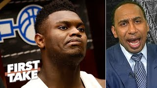 College basketball is taking a major hit without Zion in the title game - Stephen A.  | First Take