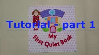 How to make quiet book for girls 01/tutorial video