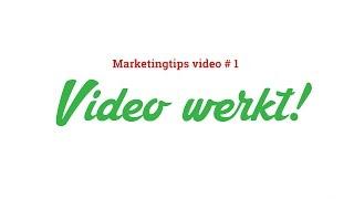 Videomarketing tip #1: Waarom werkt een bedrijfsvideo?