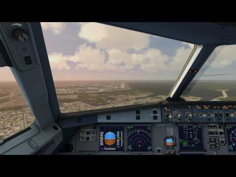Cockpit Airbus A320 landing at JFK Airport ++ Aerofly FS 2