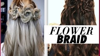 ★FLOWER BRAID HAIR TUTORIAL | HALF-UP PROM HAIRSTYLES