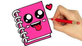 DRAWING AND COLORING NOTEBOOK EASY STEP BY STEP